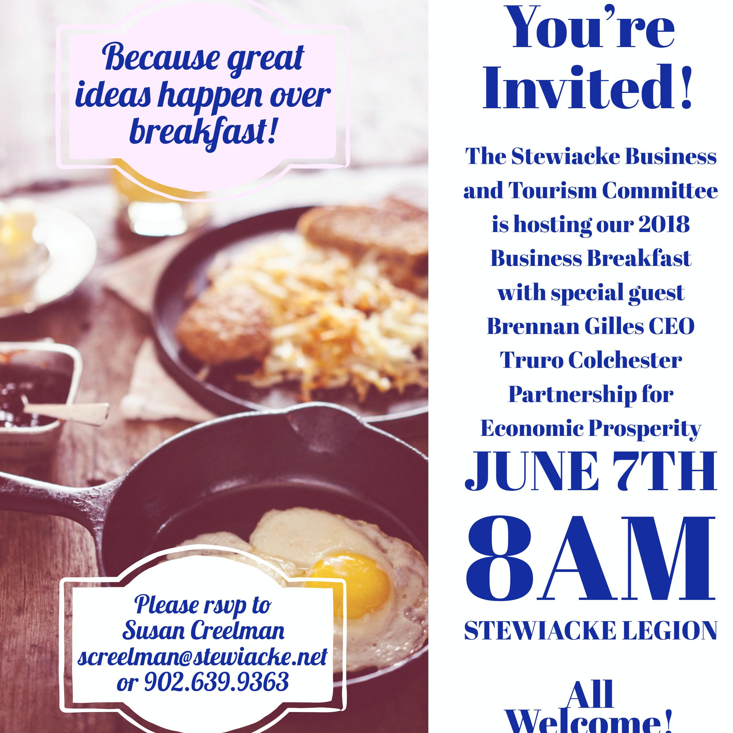 business breakfast poster Fotor